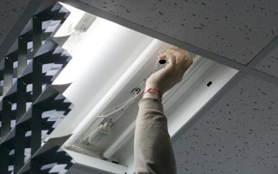 energy efficient LED lighting installation